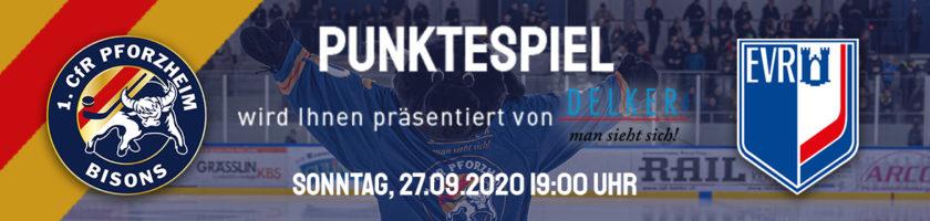 Spielankündigung: Pforzheim Bisons vs EV Ravensburg