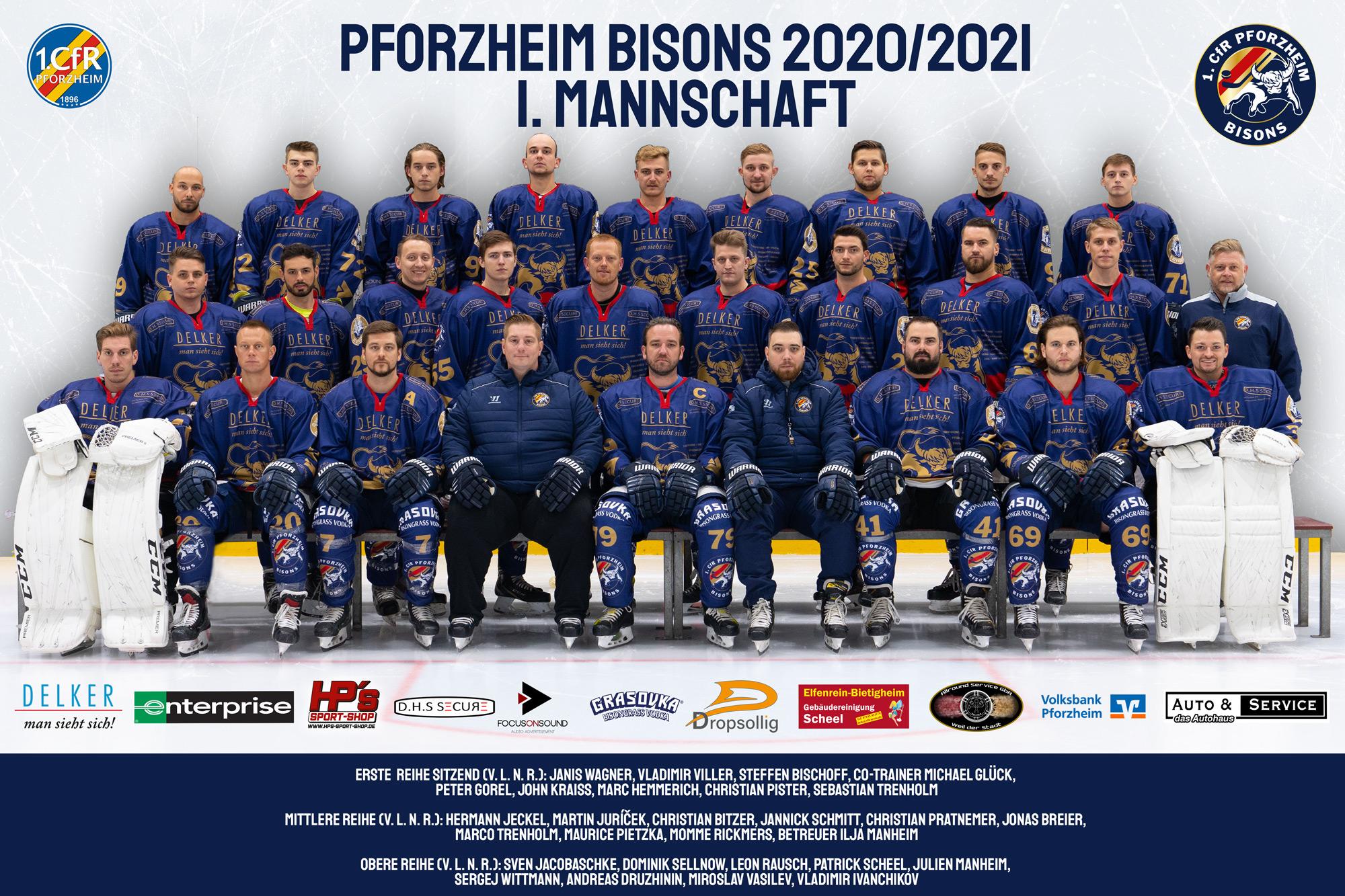 Erste Mannschaft Pforzheim Bisons 2020/2021